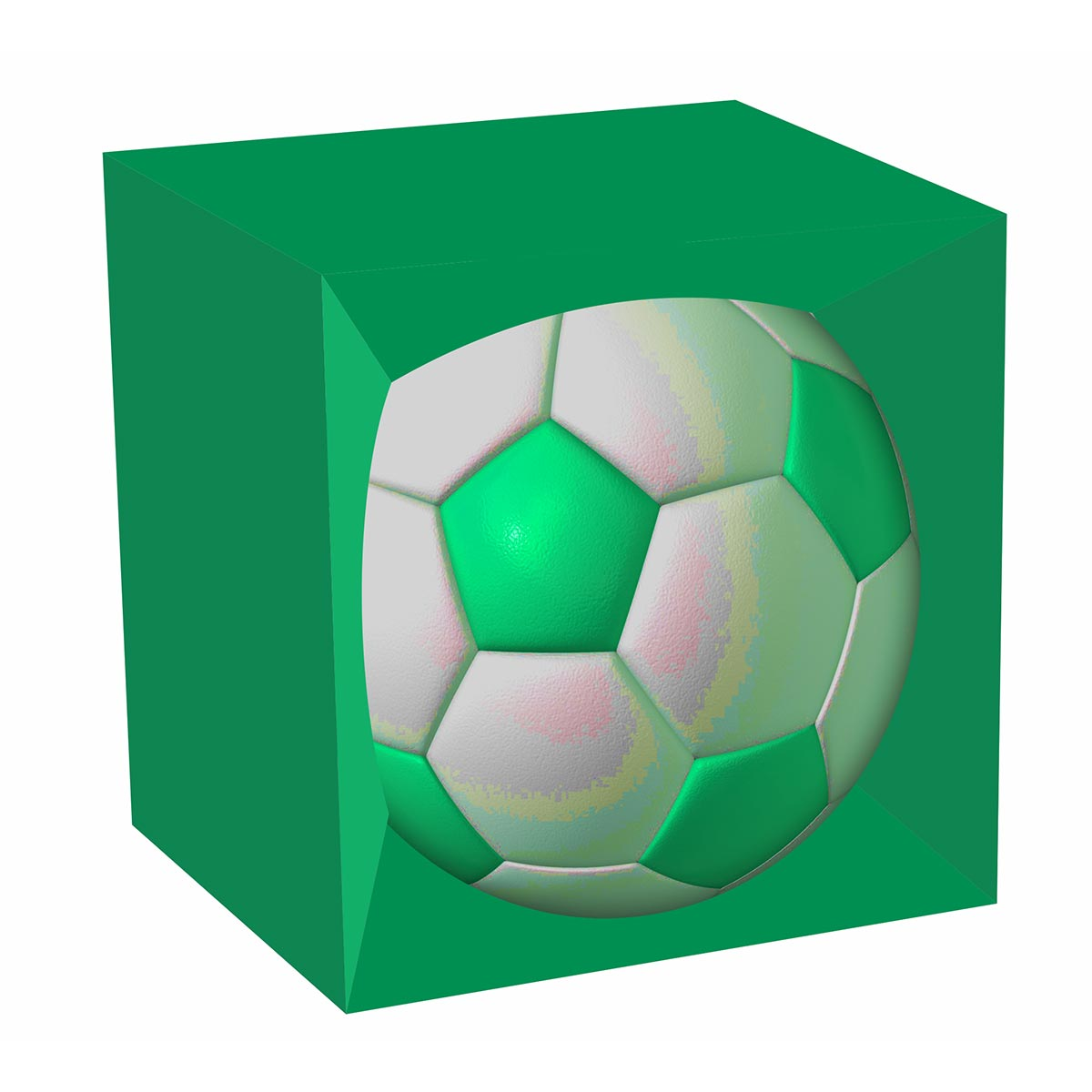 printed soccer ball box